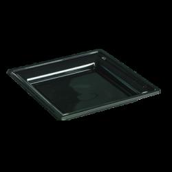 R8 - Lot de 12 assiettes noires Luxe (24x24 cm)