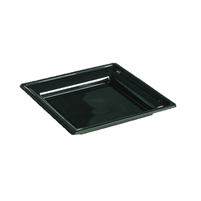 R7 - Lot de 12 assiettes noires Luxe - 24x24 cm