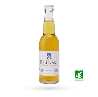 V22 – Cidre artisanal bio - Le Brun – 75 cl
