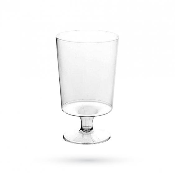 R1 - Lot de 10 verres à pied jetables - 17cl