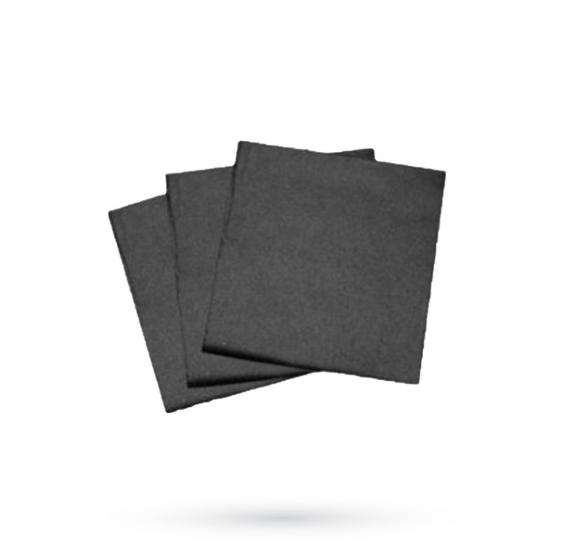 R10 – Paquet de 100 mini serviettes noires