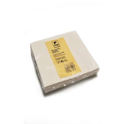 R2 - Lot de 50 serviettes blanches en ouate