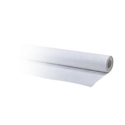 R8 - Nappe en damassé blanc (1,2 x 10m)