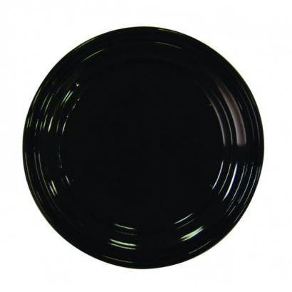 R5 - Lot de 10 assiettes noires Luxe - diamètre 19 cm